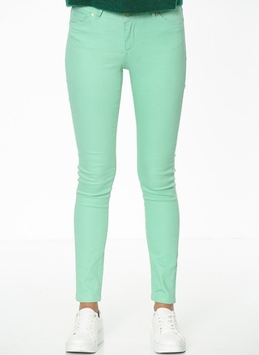 Fashion Friends Slim Fit Pantolon Yeşil